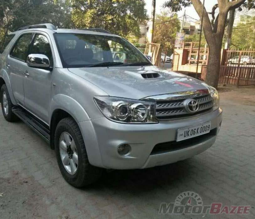 Used Toyota  Fortuner 2009 - 2012 4WD MT Car